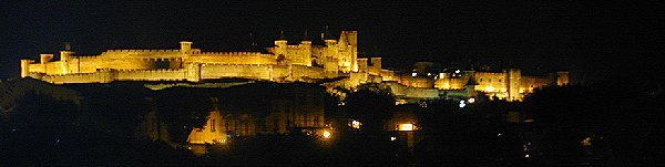 The Old Cité of Carcassonne by night