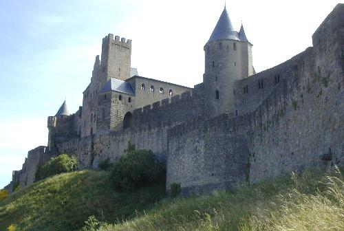 The ramparts of the Medieval Cité of Carcassonne