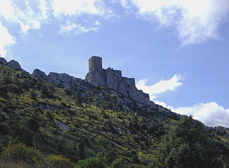 Queribus one of the better known Cathar Castles