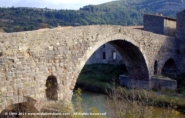 Bridge over the river Orbieu at Lagrasse